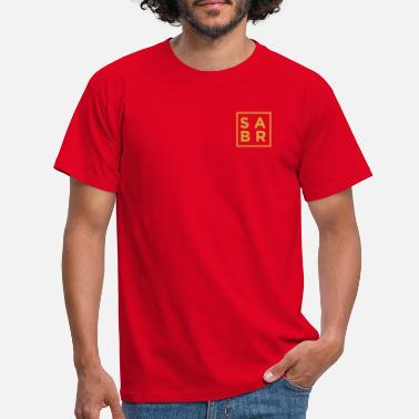 Salam Sabr Square Gold Crest - Men's T-Shirt