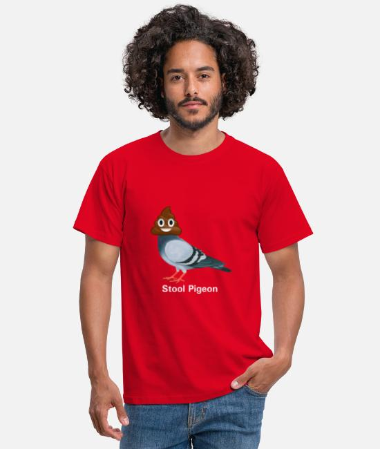 Stool T-Shirts - Stool Pigeon, ha cha cha cha - Men's T-Shirt red