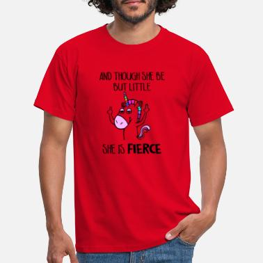 Sherlock and though she be but little she is fierce - Männer T-Shirt