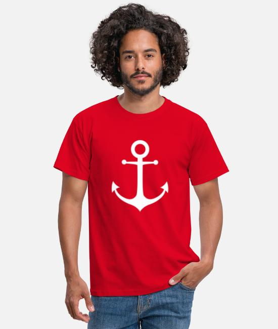 Sail Boat T-Shirts - ANKER knows - Men's T-Shirt red