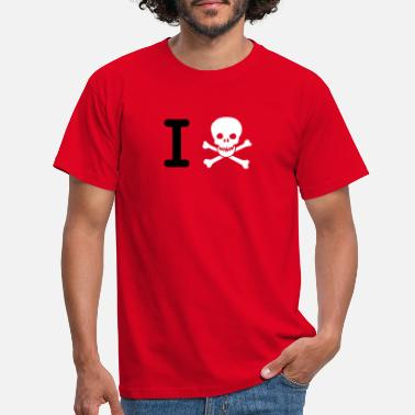 i hate (I Skull) - Men's T-Shirt