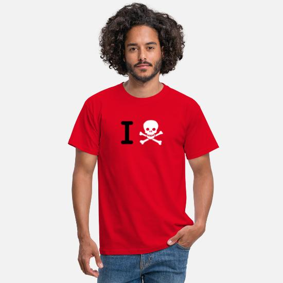 Skull T-Shirts - i hate (I Skull) - Men's T-Shirt red