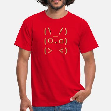 Emoticon ASCII-art: bunny - Männer T-Shirt