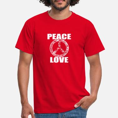 Peace Peace Love T-shirt Peace and Love Peace Sign - Maglietta uomo