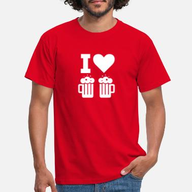 I Love Beer I LOVE BEER / I LOVE BEER - Men's T-Shirt