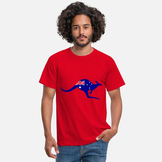 Australian T-Shirts - Australian kangaroo - Men's T-Shirt red