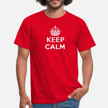 Keep Calm keep calm and your text - Maglietta uomo