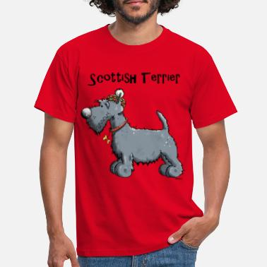 Scottish Independence Happy Scottish Terrier - Men's T-Shirt