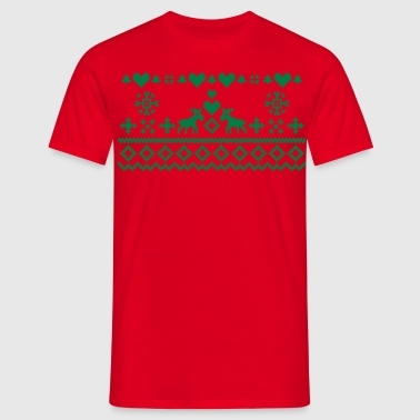 Christmas Embroidery - Men's T-Shirt