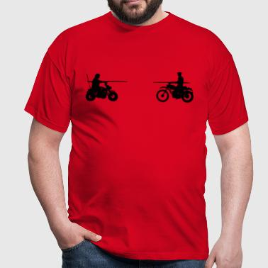 Bud vs. Terence on Bike - Men's T-Shirt