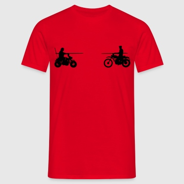 Bud vs. Terence on Bike - Camiseta hombre