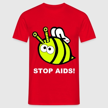 Stop Fuck Fight Aids Hiv Biene Bienchen Statement - Camiseta hombre