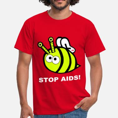 Hiv Stop Fuck Fight Aids Hiv Biene Bienchen Statement - Maglietta da uomo