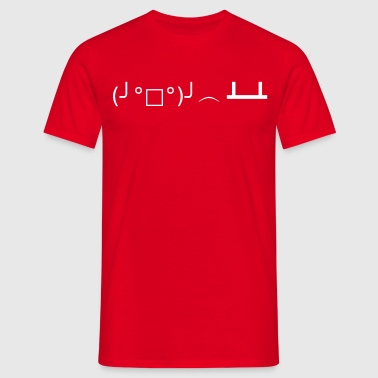 Flipping Table Emoticon - Männer T-Shirt