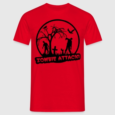 Zombie Attack - Halloween - Herre-T-shirt