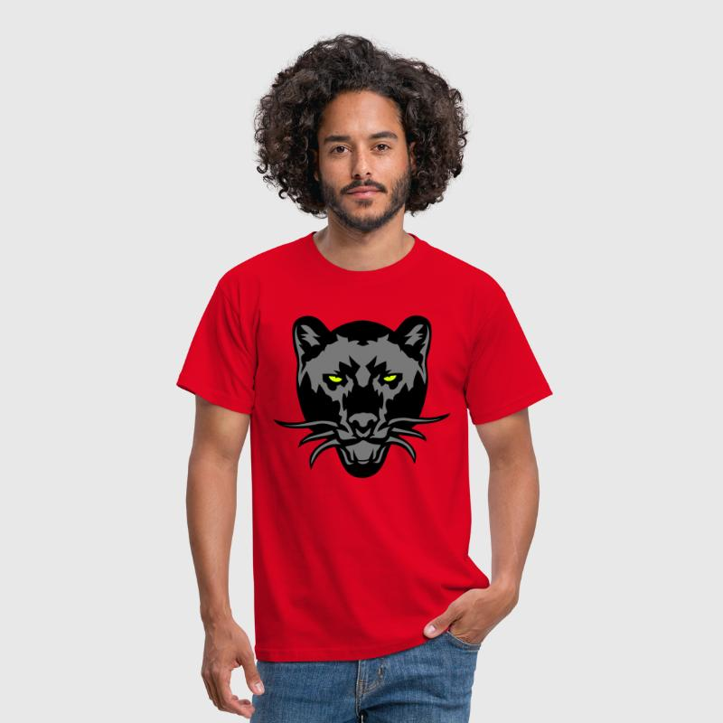 panthere noir dessin animal sauvage logo - T-shirt Homme