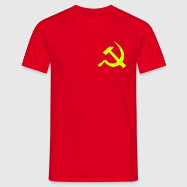 hammer_and_sickle - Herre-T-shirt
