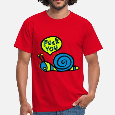 Fuck Skole Fuck you snail Fun Humor Sex Provocative - Herre-T-shirt