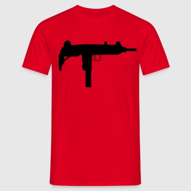 gun rifle weapon military m16 - Camiseta hombre