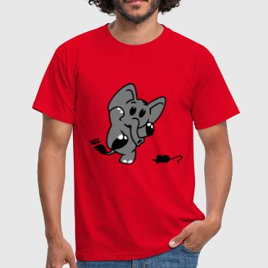Elefant + Maus - colored - Männer T-Shirt