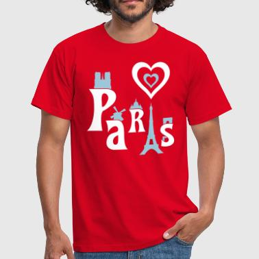 I Love Paris - Mannen T-shirt