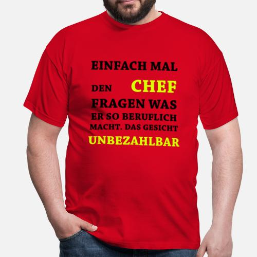 lustige spr che unbezahlbar chef m nner t shirt. Black Bedroom Furniture Sets. Home Design Ideas