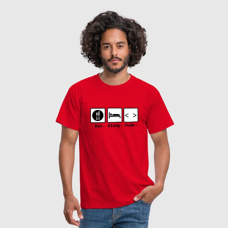 eat sleep code Nerd Wear - Männer T-Shirt