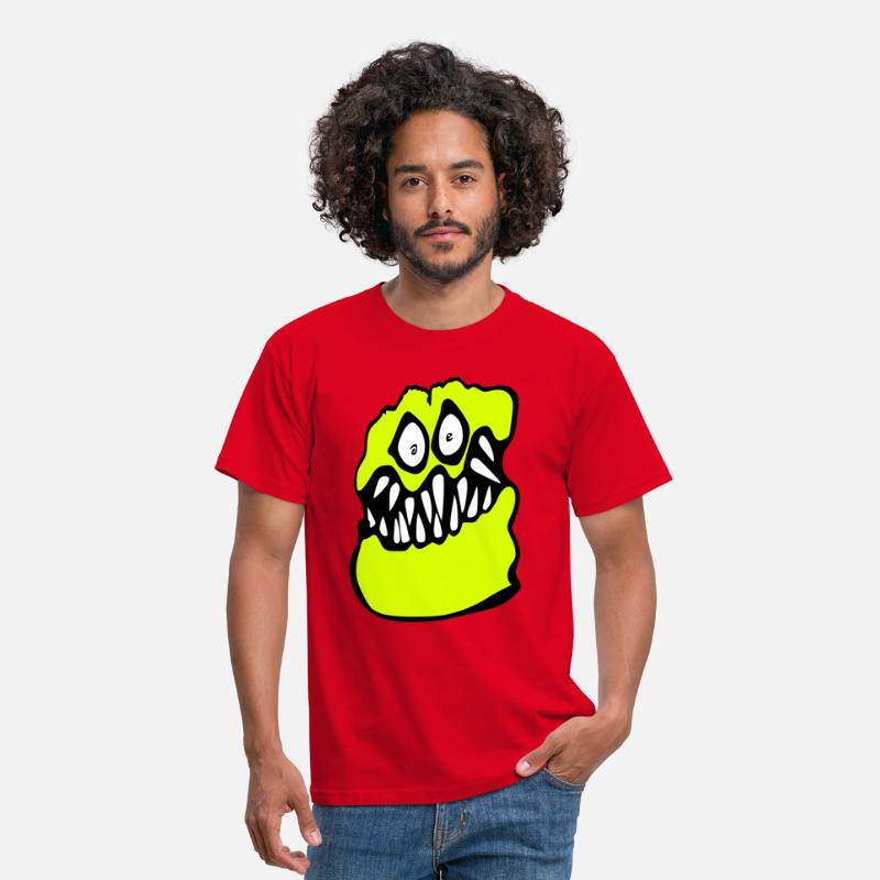 Brown T-Shirts - graffiti monster chris brown - Men's T-Shirt red