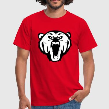 grizzly bear beer - Mannen T-shirt
