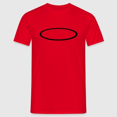 Ellipse Outline - Men's T-Shirt