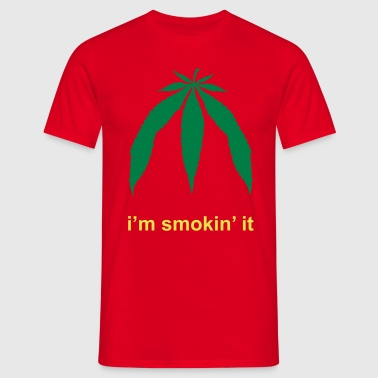 i'm smokin'it -WINTERADE- - Mannen T-shirt