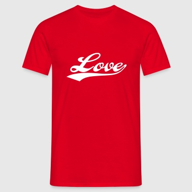 LOVE - i love you - Mannen T-shirt