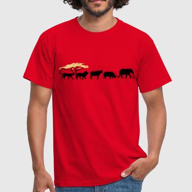 Big Five in der Savanne - Männer T-Shirt