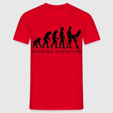 fucking_evolution - Men's T-Shirt