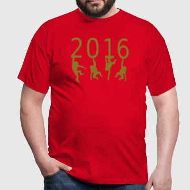 2016  monkey of fire - T-shirt Homme