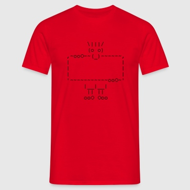 ascii art: troll + your text - Männer T-Shirt