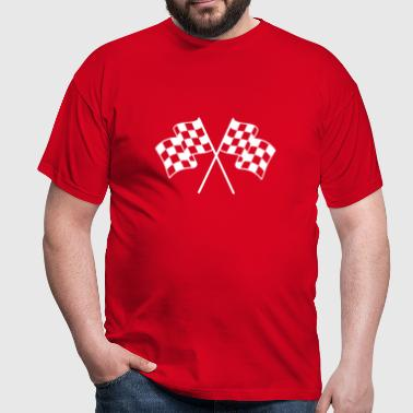 Checkered Flags 1 color - Men's T-Shirt
