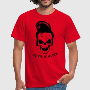Elvis is alive - Mannen T-shirt