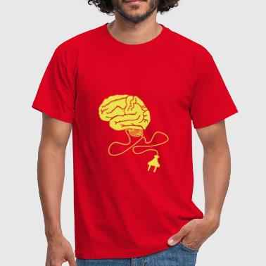 Brain Powerplug - Men's T-Shirt