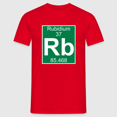 Elements 37 - rb (rubidium) - Full (white) - Herre-T-shirt