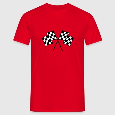 Checkered Flags 2 color - Men's T-Shirt