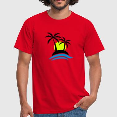 Tropical Island Tropical Island With Sunset - Männer T-Shirt