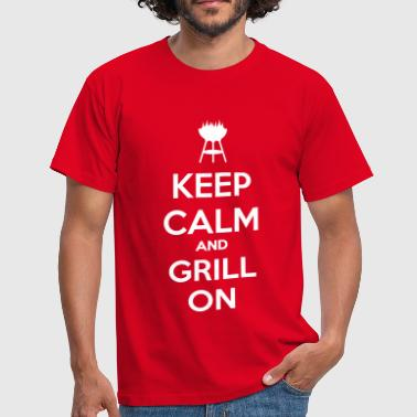 keep calm and grill on - Maglietta da uomo