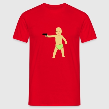 baby gun  - Men's T-Shirt