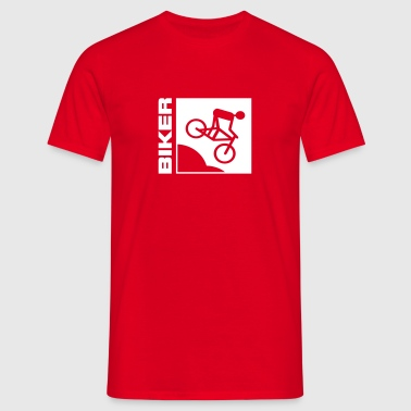 cykel följd serie cyklist Biker Mountainbike Bike MTB Downhill sport biking cycling - T-shirt herr