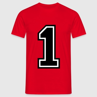 Number 1 One - Men's T-Shirt