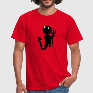duiveltje / little devil (b, 2c) - Mannen T-shirt