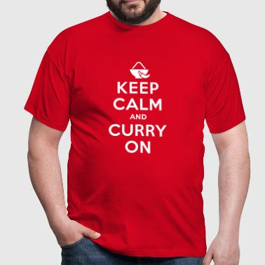 Keep calm and curry on T-skjorter - T-skjorte for menn