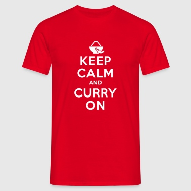 Keep calm and curry on - Koszulka męska