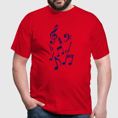 note musique ronde blanche cle sol 0 - T-shirt Homme